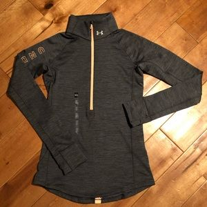 Under Amour Cold Gear Half Zip Pullover Top